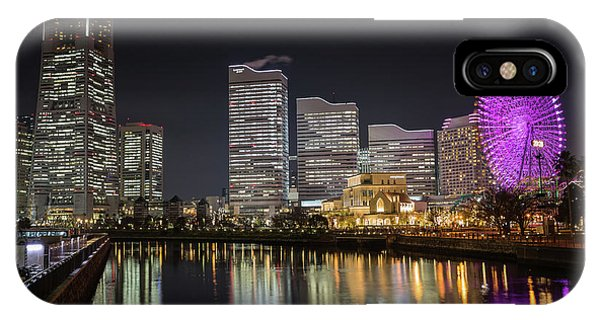 Minato Mirai At Night IPhone Case