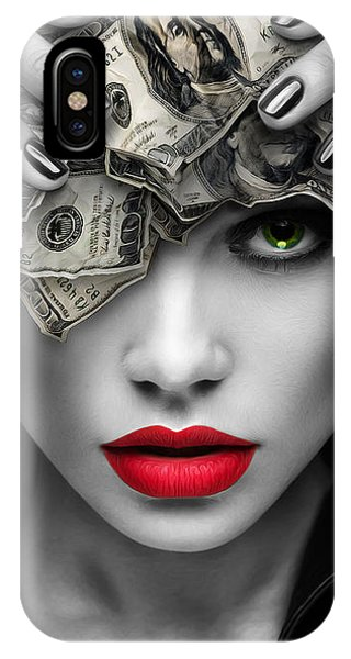 100 iPhone Case - Mind On The Money by Canvas Cultures