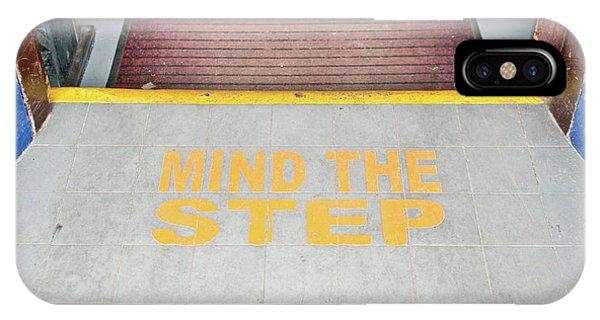 Mind The Step Notice IPhone Case