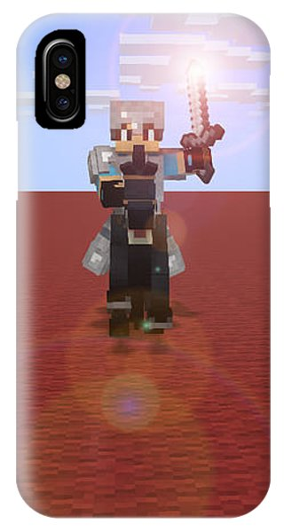 Minecraft Knight IPhone Case