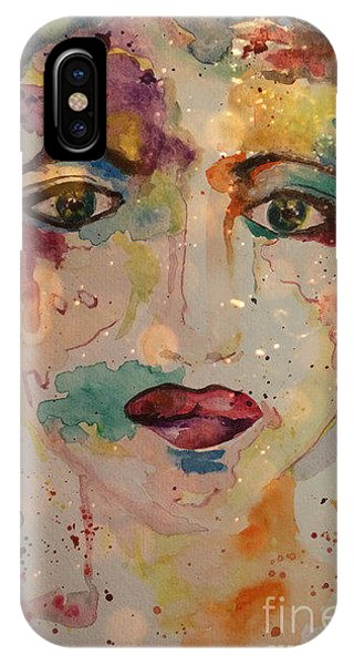 IPhone Case featuring the painting Minerva by Denise Tomasura