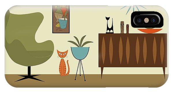 Mini Gravel Art With Orange Cat IPhone Case
