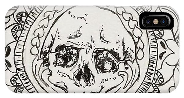 iPhone Case - Skull Mandala by Faithc Original Artwork