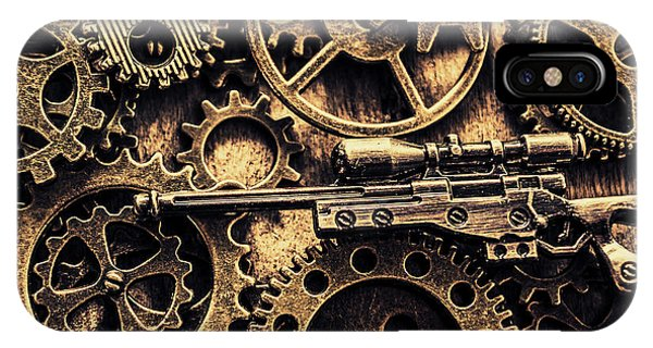 Hit iPhone Case - Miniature Awm Bolt-action Sniper Rifle  by Jorgo Photography - Wall Art Gallery