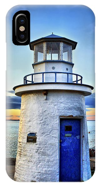 New England Coast iPhone Case - Miniature Lighthouse by Evelina Kremsdorf