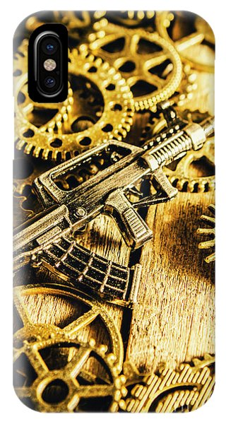 Technical iPhone Case - Miniature Qbz-95 Automatic Rifle by Jorgo Photography - Wall Art Gallery