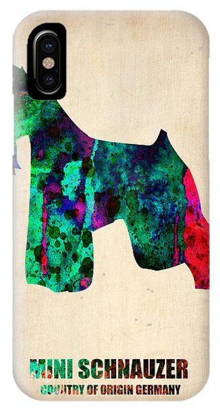 Miniature Schnauzer Poster 2 IPhone Case