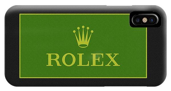 iPhone Case - Minimal Rolex Logo by Dan Sproul