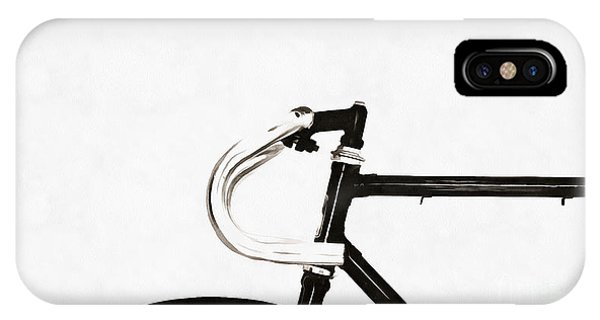 Bike iPhone X Case - Minimalist Bicycle Painting by Edward Fielding
