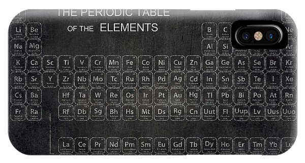 Atomic iPhone Case - Minimalist Periodic Table by Daniel Hagerman