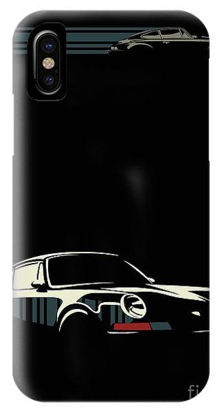 Classic Cars iPhone Case - Minimalist Porsche by Sassan Filsoof