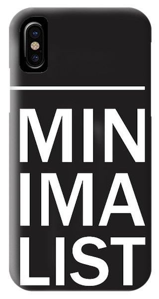 Minimalist Poster IPhone Case