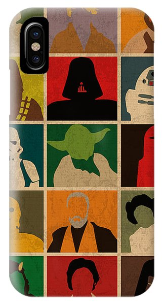 Minimalist Star Wars Character Colorful Pop Art Silhouettes IPhone Case