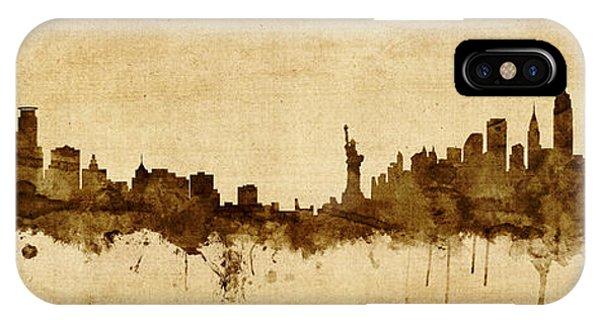 Minnesota iPhone Case - Minneapolis And New York Skyline Mashup by Michael Tompsett