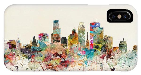 Minnesota iPhone Case - Minneapolis City Skyline by Bri Buckley