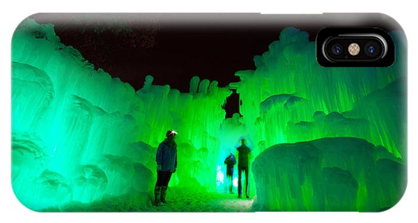 Ice Castles Of Minnesota IPhone Case