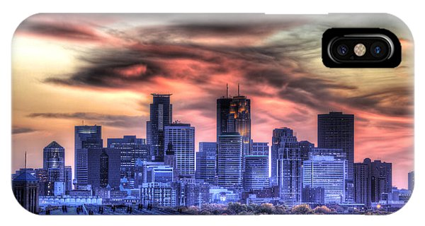 Minneapolis Skyline Autumn Sunset IPhone Case