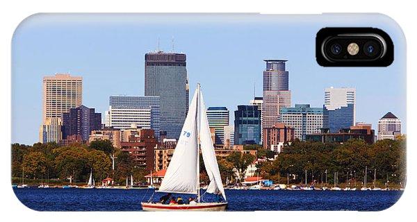 Minneapolis Skyline Lake Calhoun Sailing IPhone Case