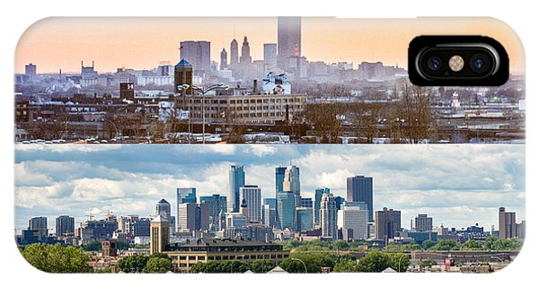 Minneapolis Skylines - Old And New IPhone Case