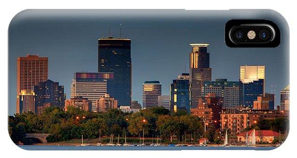 Minneapolis Skyline Photography Lake Calhoun Summer Evening IPhone Case