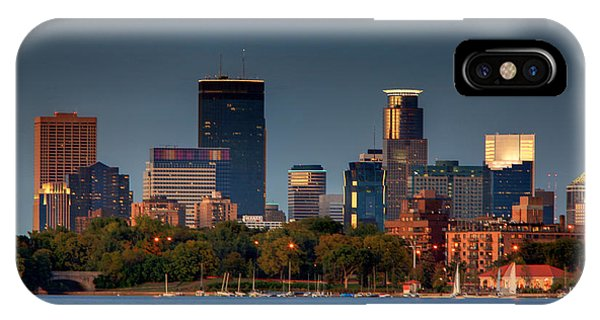 Minneapolis Skyline Photography Lake Calhoun Summer Evening IPhone Case