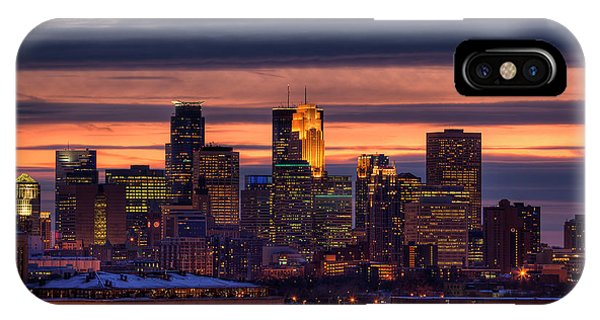Minneapolis Skyline IPhone Case