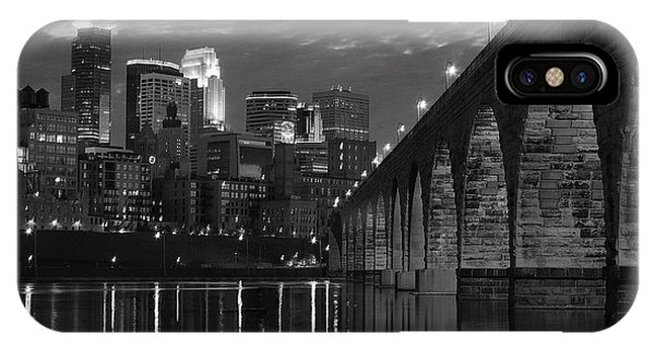 Minneapolis Stone Arch Bridge Bw IPhone Case
