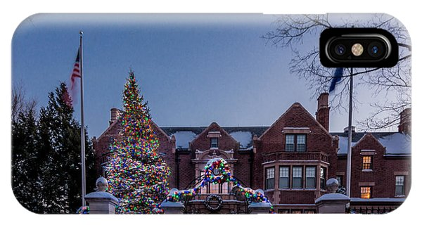 Christmas Lights Series #6 - Minnesota Governor's Mansion IPhone Case