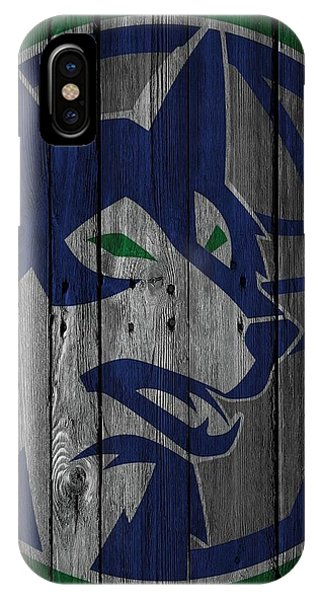 Minnesota Timberwolves Wood Fence IPhone Case