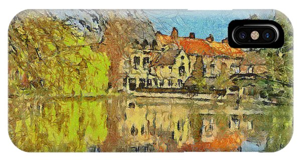 Minnewater Lake In Bruges Belgium IPhone Case