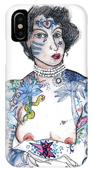 Minnie - An Homage To Maud Wagner, Tattoos  IPhone Case
