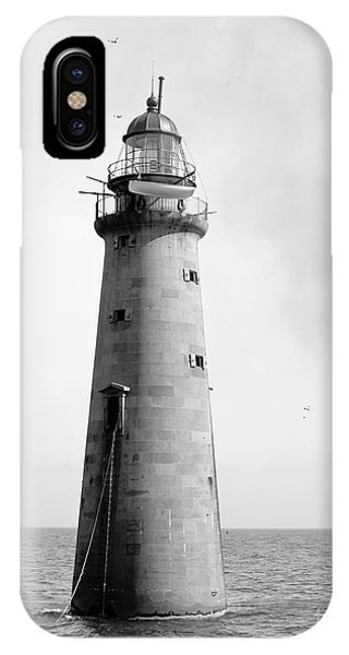 Minot's Ledge Lighthouse, Boston, Mass Vintage IPhone Case