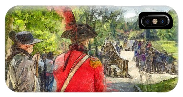 Revolutionary iPhone Case - Minuteman And Redcoat Concord Ma Pencil by Edward Fielding