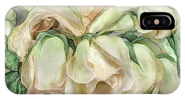 Miracle Of A Rose Bud - Antique White IPhone Case