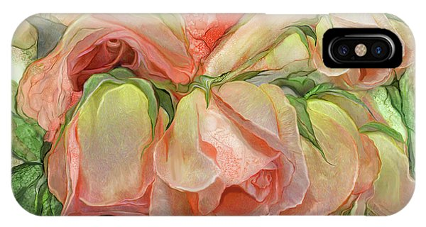 Miracle Of A Rose Bud - Peach IPhone Case