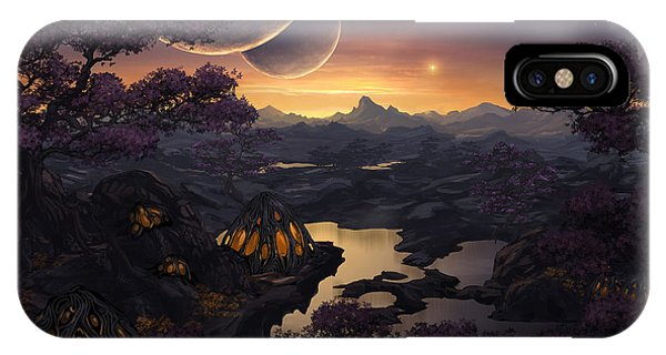 Cassiopeiaart iPhone Case - Mirror Lakes by Cassiopeia Art