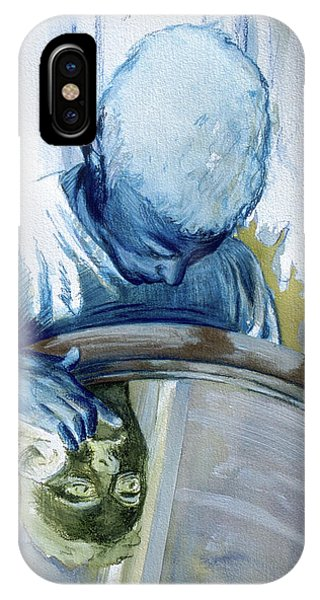 IPhone Case featuring the painting Mirror Mirror by Rene Capone