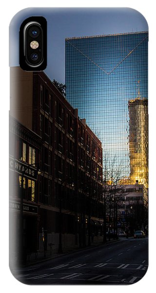 Mirror Reflection Of Peachtree Plaza IPhone Case