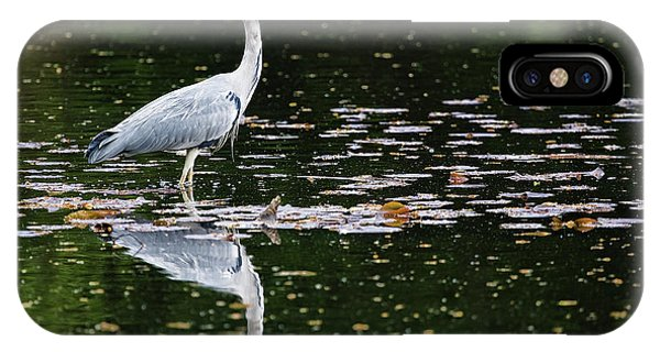 Mirrored Heron IPhone Case