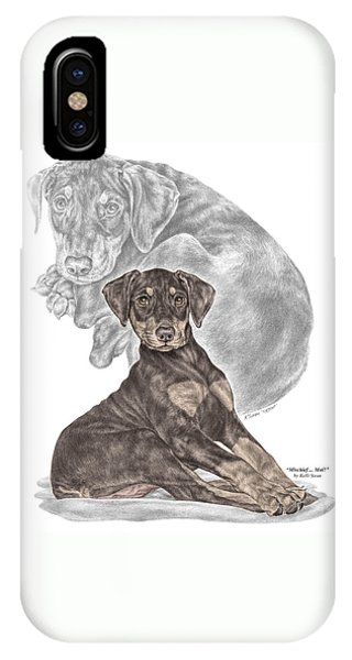 Mischief ... Moi? - Doberman Pinscher Puppy - Color Tinted IPhone Case