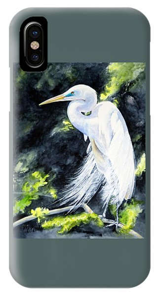 Miss April - Great Egret IPhone Case