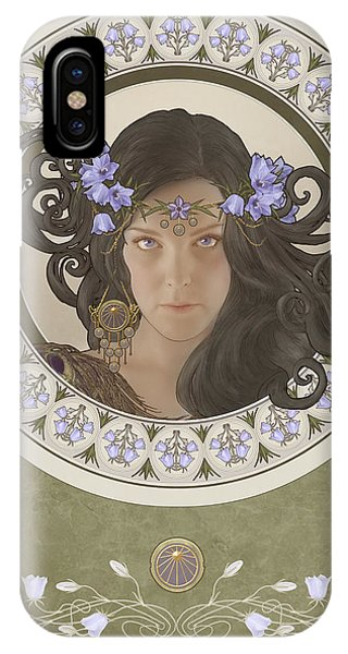 Cassiopeiaart iPhone Case - Miss Bluebell by Cassiopeia Art