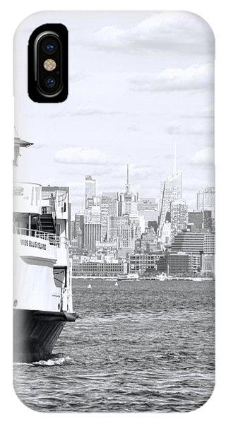 Battery D iPhone Case - Miss Ellis Island by Dan Sproul