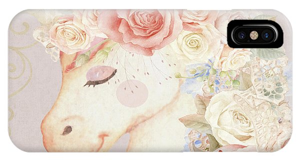 Unicorn iPhone Case - Miss Lilly Unicorn by Pink Forest Cafe