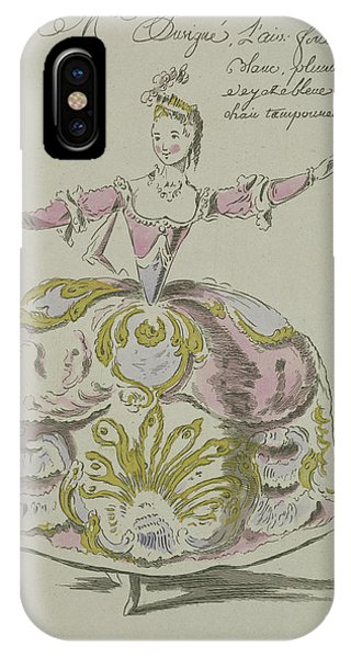Baroque iPhone Case - Miss Puvigne As Air, In Zoroastre, A Libretto By Cahusac by French School
