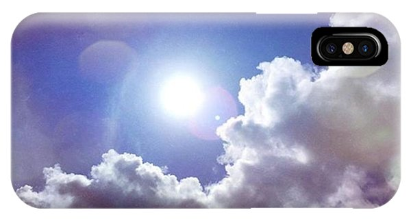 Cloud iPhone Case - Missing The Sunshine Today #mobilepics by Joan McCool