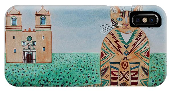 Mission Concepcion Cat IPhone Case