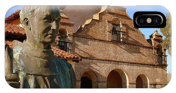 Mission San Antonio And Father Serra IPhone Case