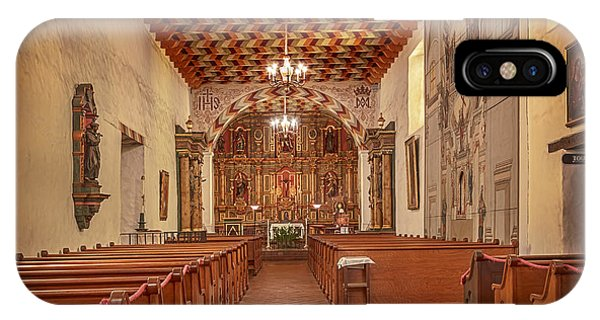 IPhone Case featuring the photograph Mission San Francisco De Asis Interior by Susan Rissi Tregoning