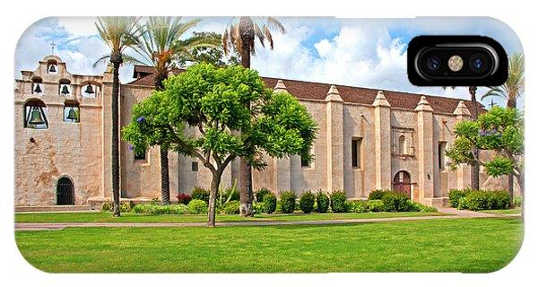 San Gabriel Mission iPhone Case - Mission San Gabriel Arcangel, San Gabriel, California by Denise Strahm